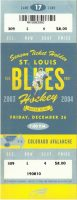 2003 St. Louis Blues ticket stub vs Colorado Avalanche