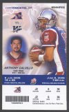 2006 CFL Montreal Alouettes ticket stub vs Winnipeg Blue Bombers