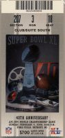 2006 Super Bowl XL Ticket Stub Steelers vs Seahawks