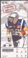 2007 CFL Montreal Alouettes ticket stub vs Winnipeg Blue Bombers
