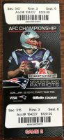 2012 AFC Championship Game Ticket Stub Patriots vs Ravens