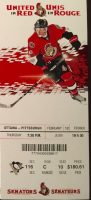2015 Ottawa Senators ticket stub vs Penguins