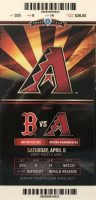2019 MLB Arizona Diamondbacks ticket stub vs Red Sox