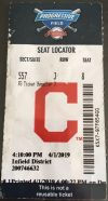 2019 Cleveland Indians ticket stub vs White Sox