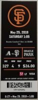 2019 San Francisco Giants ticket stub vs Diamondbacks