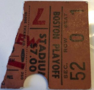 Bobby Orr Flying Goal Game Ticket Stub
