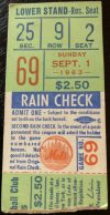 1963 New York Mets ticket stub vs Milwaukee