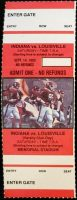 1985 NCAAF Indiana University ticket stub vs Louisville