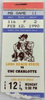 1990 NCAAMB Long Beach State 49ers ticket stub vs UNC Charlotte