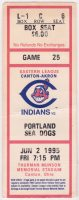 1995 Canton Akron Indians ticket stub vs Portland