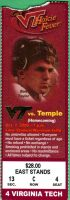 2000 NCAAF Virginia Tech ticket stub vs Temple