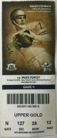 2009 NCAAF Navy ticket stub vs Wake Forest