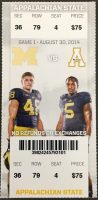 2014 NCAAF Michigan ticket stub vs Appalachian State