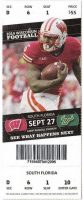 2014 NCAAF Wisconsin Badgers ticket stub vs South Florida