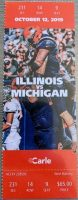2019 NCAAF Illinois ticket stub vs Michigan