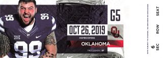 2019 NCAAF Kansas State Wildcats ticket stub vs Oklahoma