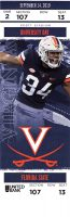 2019 NCAAF Virginia Cavaliers ticket stub vs Florida State