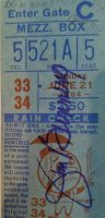 1964 Jim Bunning Perfect Game ticket stub