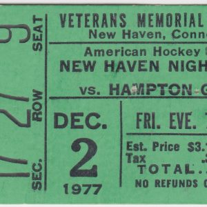 Lot of 2 New Haven Nighthawks ticket stubs for sale