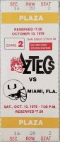 1979 NCAAF San Diego State ticket stub vs Miami
