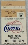 1987 Los Angeles Clippers ticket stub vs Celtics