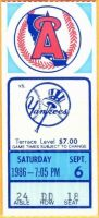 1986 Reggie Jackson 2500th hit ticket stub