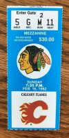 1992 Michel Goulet 500th goal ticket stub