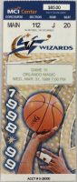 1999 Washington Wizards ticket stub vs Orlando