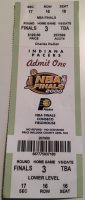 2000 NBA Finals Game 3 ticket stub Pacers vs Lakers
