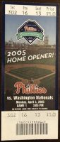 2005 Philadelphia Phillies ticket stub vs Nationals