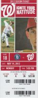 2012 Bryce Harper 1st home run ticket stub