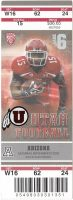 2012 NCAAF Utah Utes ticket stub vs Arizona