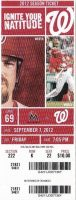 2012 Washington Nationals ticket stub vs Marlins