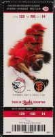 2013 Homer Bailey 2nd No Hitter ticket stub