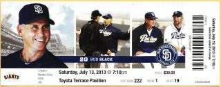 2013 Tim Lincecum 1st No Hitter ticket stub