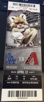 2015 Joc Pederson 1st Home Run ticket stub