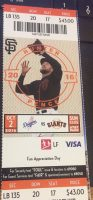 2016 Vin Scully Final Game ticket stub