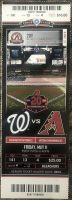 2018 Arizona Diamondbacks ticket stub vs Nationals