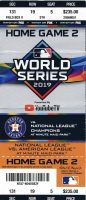 2019 World Series Game 2 Ticket Stub Nationals at Astros