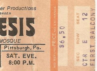 1974 Genesis live at the Syria Mosque Pittsburgh