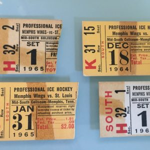 1964-65 CPHL Memphis Wings ticket stub lot of 4