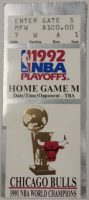 1992 NBA Finals Game 5 ticket stub Bulls vs Trail Blazers
