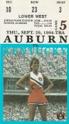 1994 NCAAF Auburn Tigers ticket stub vs Kentucky