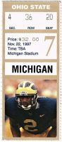 1997 NCAAF Michigan Wolverines ticket stub vs Ohio State