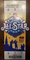 2008 NBA All Star Game ticket stub New Orleans