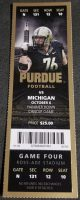 2012 NCAAF Purdue Boilermakers ticket stub vs Michigan