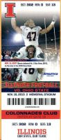 2013 NCAAF Illinois ticket stub vs Ohio State