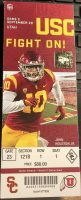 2019 NCAAF USC ticket stub vs Utah