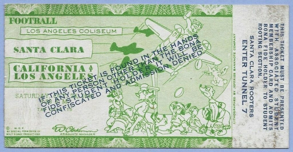 Disney Artwork Once Adorned UCLA, Oregon Ticket Stubs