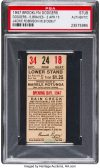 1947 Jackie Robinson debut ticket stub
